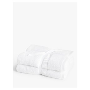 John Lewis Cotton Bath Towel Bale White 2 Pack