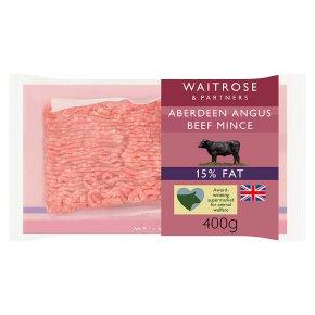 Waitrose Aberdeen Angus Beef Mince 15% Fat