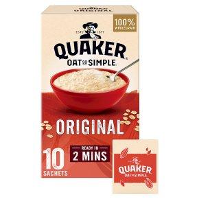 Quaker Oat So Simple Original 10 Porridge Sachets