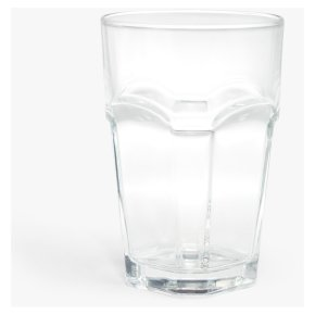 House By John Lewis Stackable Glass Tumbler Clear 400ml
