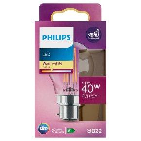 Philips LED White 4.3w B22
