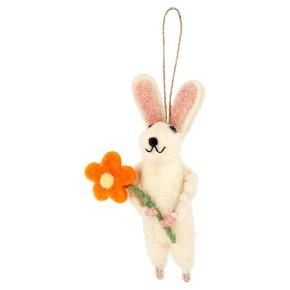 Waitrose Easter Rabbit & Flower Hanging Decoration