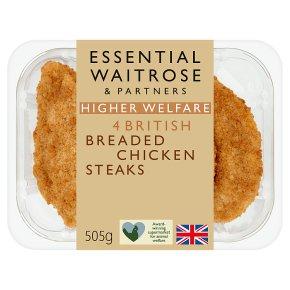 Essential 4 British Breaded Chicken Steaks