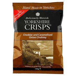 Yorkshire Crisps Cheddar & caramelise onion chutney