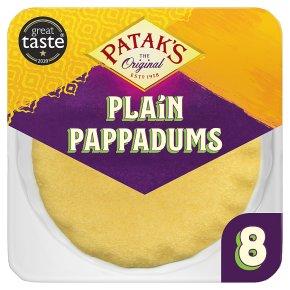 Patak's Gluten Free Plain Pappadums