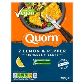 Quorn 2 Breaded Fishless Lemon & Pepper Fillets