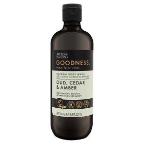Goodness Oud, Cedar Amber Body Wash