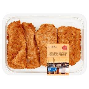 Seachill 4 Chunky Breaded Haddock Fillets