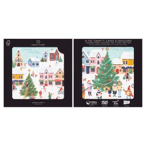 John Lewis Christmas Busy Village Cards