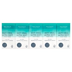 Waitrose Anti Viral Ultra Soft Pocket Tissues