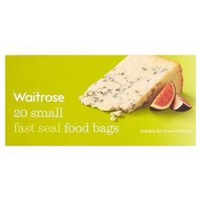Waitrose Small Fast Seal Food Bags