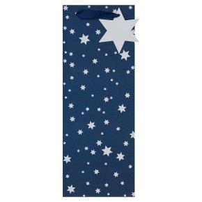 Navy Star Bottle Bag