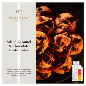 No.1 Salted Caramel & Dark Chocolate Profiteroles