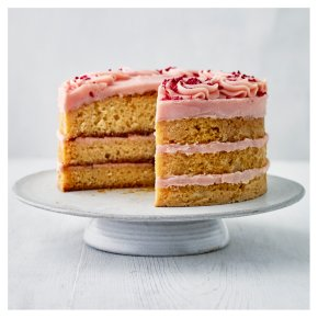 Lemon, Raspberry & Rose Triple Layer Cake