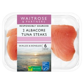 Waitrose 2 MSC Albacore Tuna Steaks