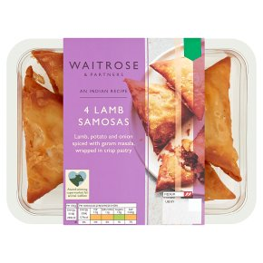 Waitrose Indian 4 Lamb Samosas
