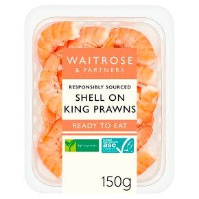 Waitrose Shell On King Prawns
