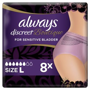 Always Discreet Boutique Pants 6+ L