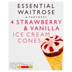 Essential Strawberry & Vanilla Cones