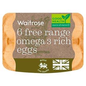 Waitrose British Blacktail Free Range Omega 3 Rich Eggs