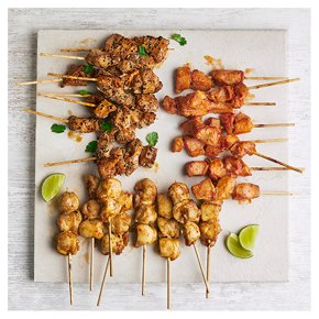 Chicken Kebab Selection, 24 Pieces
