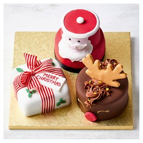 Festive Trio of Mixed Cakes