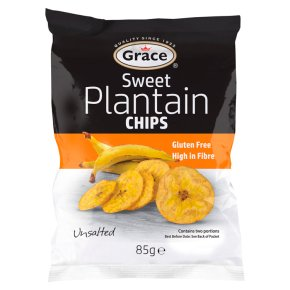 Grace Sweet Plantain Unsalted Chips