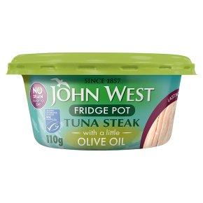 John West No Drain Tuna Steak in Olive Oil