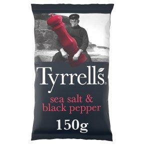 Tyrrells potato chips sea salt & black pepper