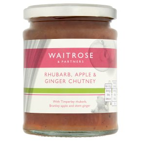 Waitrose Rhubarb Apple Ginger Chutney