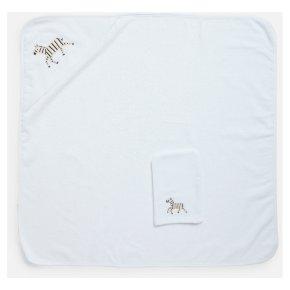 John Lewis Zebra Hooded Towel Mitt