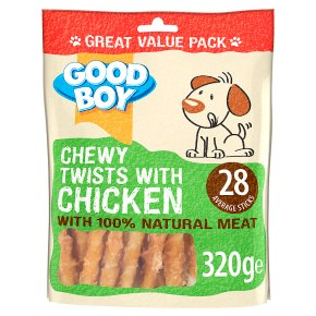 Good Boy Chewy Twists with Chicken