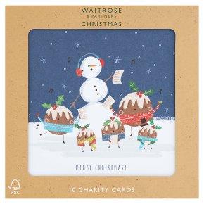 Waitrose Christmas Pudding Family Cards