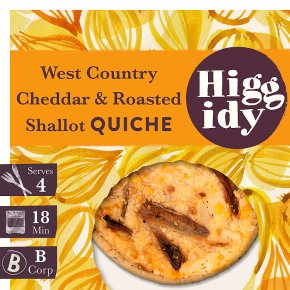 Higgidy West Country Cheddar & Roasted Shallot Quiche