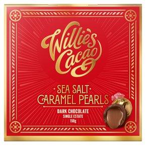 Willie's Cacao Sea Salt Caramel Black Pearls