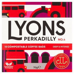 Lyons Perkadilly 10 Coffee Bags
