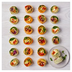 Vegetarian Roulade Wrap Selection, 24 pieces