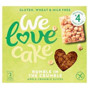 We Love Cake Apple Crumble Slices
