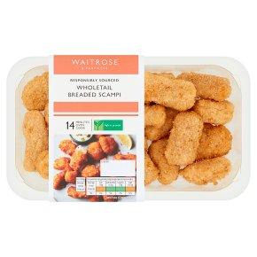 Waitrose Wholetail Breaded Scampi
