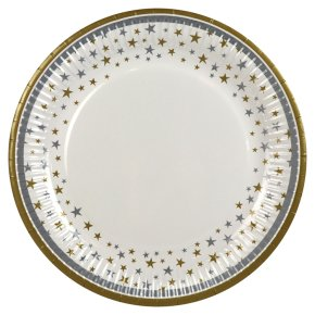 Waitrose Home Stars Celebration Plates 23cm