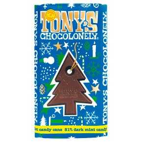 Tony's Chocolonely Dark Chocolate Candy Cane