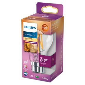 Philips Dimmable LED Clear 8.5w B22