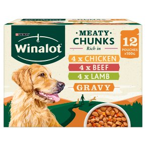Winalot Perfect Portions Dog Food Mixed in Gravy