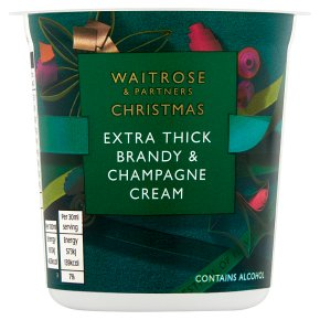 Waitrose Christmas Brandy & Champagne Extra Thick Cream