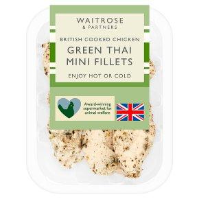 Waitrose British Cooked Green Thai Mini Chicken Fillets