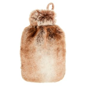 John Lewis Hot Water Bottle and Cover, Brown
