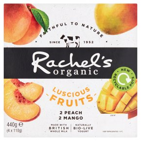 Rachel's Organic Luscious Fruits Peach & Mango Yogurt