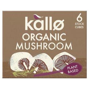 Kallo Organic Mushroom 6 Stock Cubes