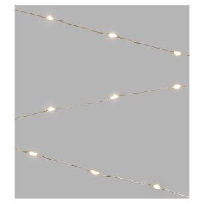John Lewis 40 Silver Wire Lights Pure