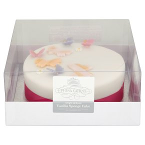 Fiona Cairns Pink Butterflies Golden Sponge Cake